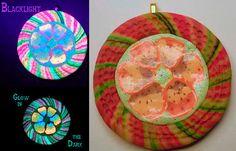 Glow in the Dark Flower Pendant EyeGloArts handmade by EyeGloArts, $45.00