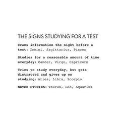 I do study but i should study more often. Currently a sophomore failing Calculus so.... #Aquarius ♒️