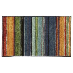 Rug, Townhouse Rugs Carnival Stripe Multi Rug 21-Inch by 34-Inch #Townhouse  19$