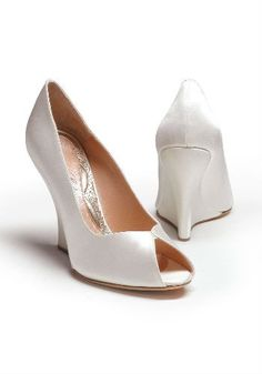 30 Stylish Wedding Shoes - white wedges