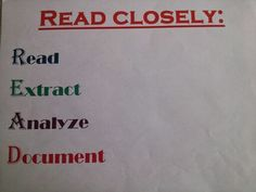 A close reading strategy to help students really READ!