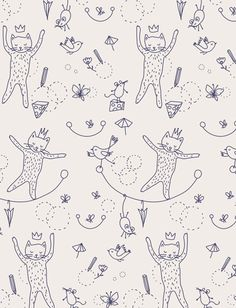 "Little Cube ""Mice & Cats"" wallpaper."