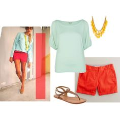 ab43e3cad62 Summer colors! Love colors in summer! Casual Summer