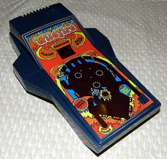 Vintage Wildfire Electronic Pinball Handheld LED Game by Parker Brothers, Copyright 1979.