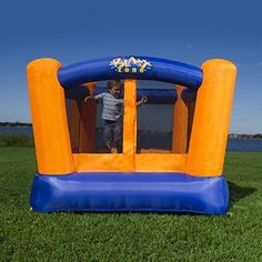 Blast Zone Little Bopper Bounce House - The Blast Zone Little Bopper Bouncy House is small on size and big on fun! Perfect for compact backyards or indoor use, this adorable inflatable lets. Inflatable Bounce House, Inflatable Bouncers, Bouncy House, Bouncy Castle, New Kids Toys, Water Slides, Toys Shop, Vinyl Flooring, Play Houses