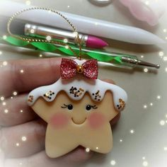 Hottest Free of Charge polymer clay ornaments Style Ideas Cake Christmas Ornament Polymer Clay Polymer Clay Ornaments, Cute Polymer Clay, Polymer Clay Projects, Polymer Clay Creations, Diy Clay, Polymer Clay Christmas, Diy Christmas Ornaments, Holiday Crafts, Christmas Decorations