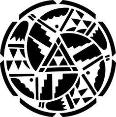 Stencil Native American Circle 6x6 No.221