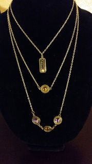 "3-Layer Gold Chain ""Love"" Necklace Fashion Gold & Gems Lengths: 15"", 19"" & 22"" Handmade by: U.BE.U. FASHION"