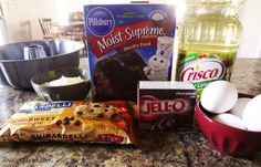 homemade chocolate chip cake bundt pudding ingredients