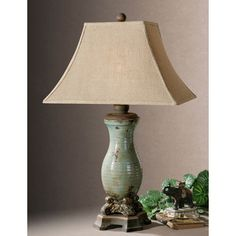 Uttermost Andelle Light Blue Ceramic/ Metal Table Lamp | Overstock.com Shopping - The Best Deals on Table Lamps