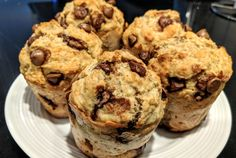 Recipe banana muffins and chocolate health - circular line. Muffin Recipes, Baby Food Recipes, Gourmet Recipes, Snack Recipes, Health Recipes, Easy Snacks, Easy Desserts, Healthy Breakfast Muffins, Chocolate Muffins