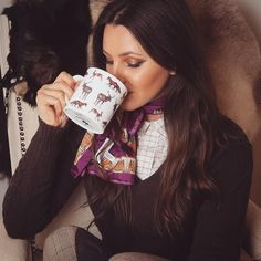 """Gefällt 384 Mal, 7 Kommentare - Charlotte 🇬🇧 (@charlotte.in.england) auf Instagram: """"I've found my new favourite mug ☕️🦌🦊🐰 Grab 10% OFF with CIE17 🍁 Available online…"""" Country Fashion, England, Tweed, Charlotte, Style Inspiration, Mugs, Instagram, Autumn, Collection"""