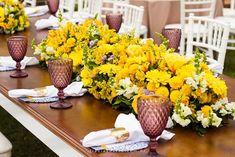 Decoração de casamento: Amarelo e azul   http://www.blogdocasamento.com.br/decoracao-de-casamento-amarelo-e-azul/