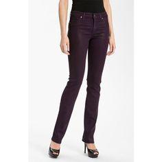 CJ by Cookie Johnson dark purple Faith wax coated straight leg jeans