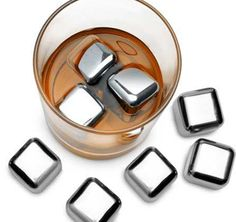 Stainless Steel Ice Cubes - $43.90 from Rapt.