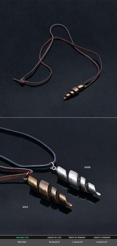 Mens Vintage Twist Metal Charm Necklace By Guylook.com                                                                                                                                                                                 More #MensJewelry