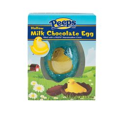 Peeps® Milk Chocolate Egg with Peeps Marshmallow Chick - OrientalTrading.com