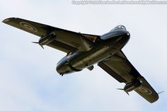 Hawker HUNTER fighter -  at RAF St. Athan, Barry, Vale of Glamorgan, Wales