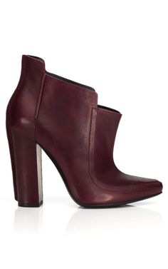 Throw caution to the wind and ignore rule about not matching shoes to bag...when it comes to A. WANG; Burgundy everything is just fine!