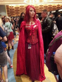 Me as #Melisandre The #RedPriestess from #GameofThrones #GOT 1st day of 1st #Dragoncon  #cosplay #dragoncon2013