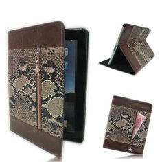 Elegant leather skin with snakeskin grain design Manufactured using fine leather material With Exterior pocket for safekeeping cash, cards and small gadgets Ipad 3 Cases, Cell Phone Cases, Iphone Cases, Gadgets Online, Leather Skin, Ipad 4, Leather Material, Telephone