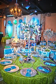 Tablescapes At Paris Themed Quinceanera Http://www.ldoweddings.com/san