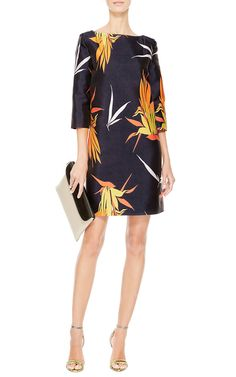 Birds Of Paradise Print Shift Dress by Marni - Moda Operandi