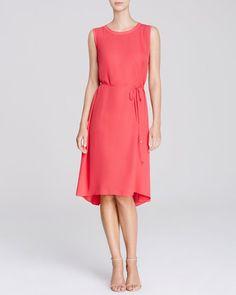 Elie Tahari Lillie Belted Silk Dress