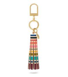Tory Burch Multi-color Tassel Key Fob