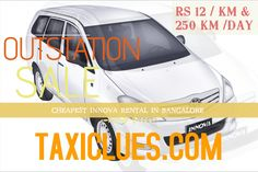 Cheapest outstation Taxi from Bangalore for your trip with Taxiclues. No one can beat this price. No hidden terms & Pure professional Play