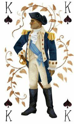 George Washington as King of Spades Hamilton Face Cards Alexander Hamilton, Hamilton Fanart, Hamilton Puns, Hamilton Quotes, King Of Spades, Hamilton Lin Manuel Miranda, Aaron Burr, Hamilton Musical, Hamilton Broadway