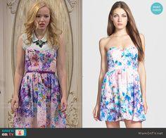 Liv's floral strapless dress on Liv and Maddie.  Outfit Details: http://wornontv.net/50551/ #LivandMaddie