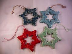 Snowflake ornaments ~ would be beautiful in raku!