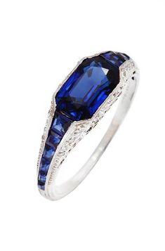 Art Deco TIFFANY Sapphire Diamond Platinum Ring USA Sapphire and diamond ring set in platinum by Tiffany and Company. Art Deco TIFFANY Sapphire Diamond Platinum Ring USA Sapphire and diamond ring set in platinum by Tiffany and Company. Bijoux Art Deco, Art Deco Jewelry, Jewelry Design, Art Deco Ring, Designer Jewelry, Platinum Diamond Rings, Sapphire Diamond, Sapphire Rings, Blue Sapphire
