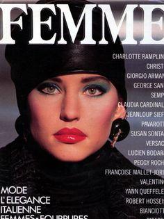 Femme France, mid 80sModel : Jill Goodacre Happy birthday, Jill! (March 29, 1965, 50 today)