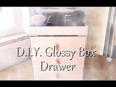 [LIFESTYLE] DIY - Un meuble 3 tiroirs avec des glossybox - YouTube
