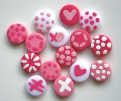 Baby Girl  Handmade Polymer Clay Mini Buttons 15 di kimmieprout