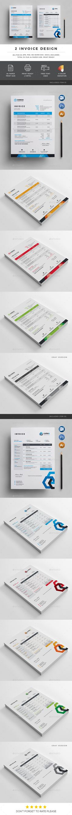 Invoice Template Download, Print and Stationery - invoice print