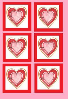 Valentine Hearts Gift Tags Free Download