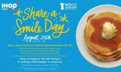 "ihop: $1.00 Short Stack Pancakes today only (8/25) | The ""Coupon Hubby"" - Coupon savings for beginners and advanced shoppers Short Stack Pancakes, Restaurant Deals, Buttermilk Pancakes, Fruit, Breakfast, Coupon, Food, Random, Morning Coffee"