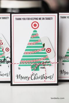 Teacher Gift for Christmas: Target Gift Card Holder - landeelu.com