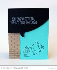 Blueprints 23 Die-namics, Stitched Speech Bubble Edges Die-namics, BB You make My Tail Wag Stamp Set, Small Brick Background - Amy Rohl  #mftstamps