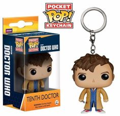 Take Doctor Who with you everywhere you go! With this Dr. #10 Pop! Vinyl Figure Doctor Who Key Chain, you'll get your favorite fun rendering of Dr. #10 in his iconic Pop! Vinyl Figure styling, but shrunken down and made for your keys! Dr. #10 measures 1 1/2-inches tall and comes on a key ring. Check out the other Pocket POP Keychains from Funko.