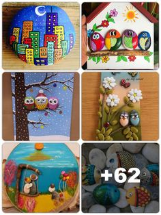 Diy Crafts For Gifts, Diy Home Crafts, Fun Crafts, Arts And Crafts, Stone Crafts, Rock Crafts, Clay Crafts, Rock Painting Designs, Craft Show Ideas