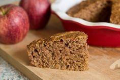Whole wheat apple cake | Sugar free apple breakfast cake