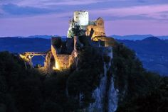 Srebrenik, Bosnia. Honestly can say that I climbed to see this castle and went across that bridge! Summer '11. <3