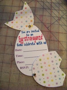 Kandy Kreations: Egg-stravaganza Invitation