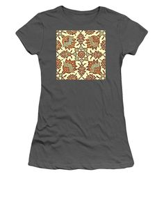 An Ottoman Iznik Style Floral Design Pottery Polychrome, By Adam Asar, No 13b - Women's T-Shirt (Athletic Fit)