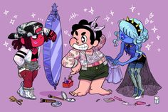 A passion for fashion! Garnet's Makeover Pearl's Makeover Amethyst's Makeover Lapis's Makeover Peridot's Makeover Jasper's makeover