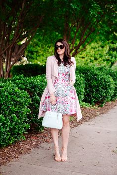 Floral Dress and Pin